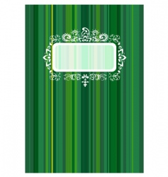 copybook cover with floral ornament vector image