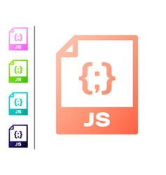 Coral js file document icon download js button vector