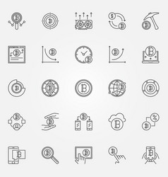 Cryptocurrency icons set crypto currency vector