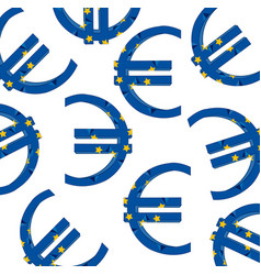 Decorative symbol euro vector
