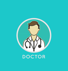 Doctor logo icon design vector