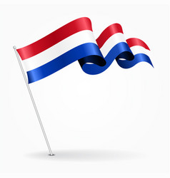 Dutch pin wavy flag vector