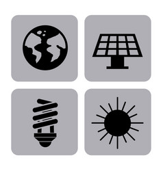 eco friendly related icons image vector image