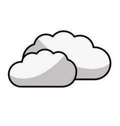 Figure cloud weather icon isolated vector