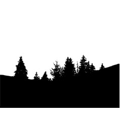 forest isolated on white backgroundtrees vector image