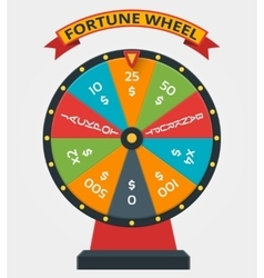 Fortune wheel in flat style vector image