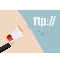 Ftp flat design business vector