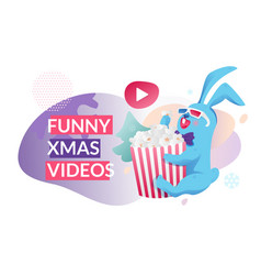 funny christmas videos banner vector image