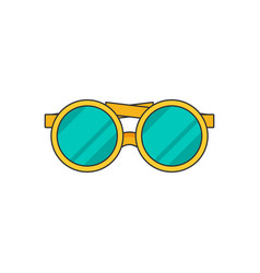 glasses flat vector image
