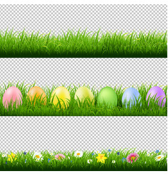 green grass borders collection transparent vector image
