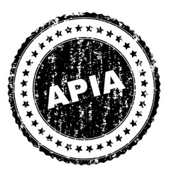 Grunge textured apia stamp seal vector