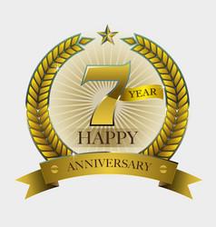 Happy anniversary symbol vector