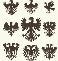 heraldry set and retro background vector image