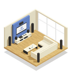 home theater isometric vector image