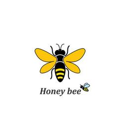 Honey bee logo template icon vector