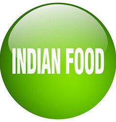 Indian food green round gel isolated push button vector