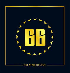 initial letter bb logo template design vector image