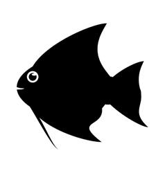 Isolated fish animal cartoon design vector