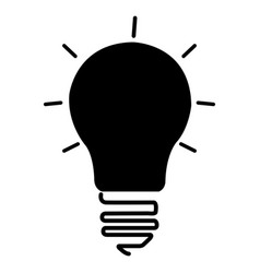 Isolated lightbulb icon vector