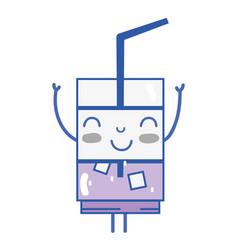 Kawaii cute happy drink beverage vector