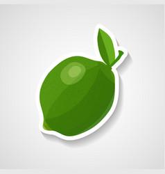 lime sticker cartoon sticker vector image