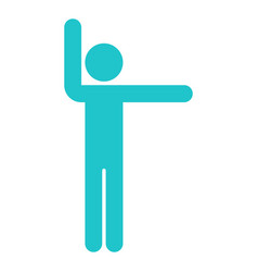 Man sign raised hands sport icon vector