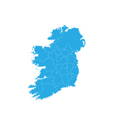 map of ireland high detailed map - ireland vector image