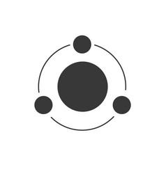 model atom molecule structure scientific or vector image