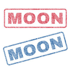 Moon textile stamps vector