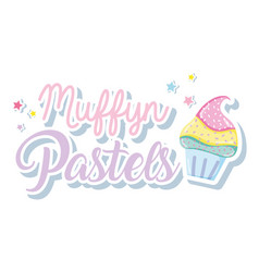 Muffin punchy pastels vector