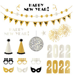 new years eve party 2022 graphics vector image