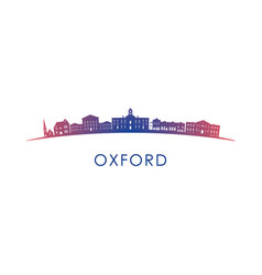 oxford mississippi skyline silhouette design vector image