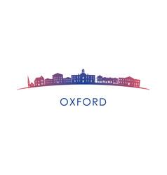 Oxford mississippi skyline silhouette design vector