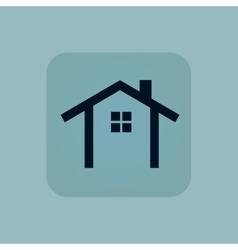 Pale blue cottage icon vector
