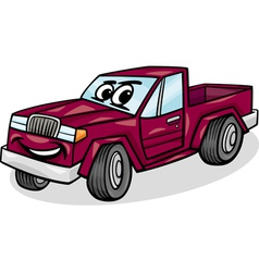 pickup car character cartoon vector image