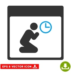 Pray Clock Calendar Page Eps Icon vector