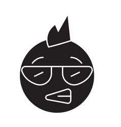 punk emoji black concept icon punk emoji vector image