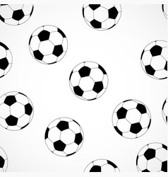 seamless football pattern soccer texture vector image