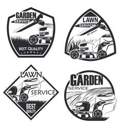 set 4 lawn service vector image