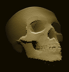 skull constructed with random numbers vector image