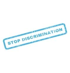 Stop Discrimination Rubber Stamp vector