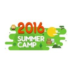 Summer camp poster vector