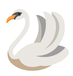 Swan flat vector