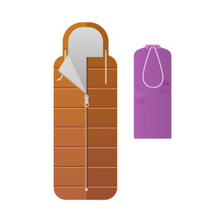 The colorful sleeping bags vector
