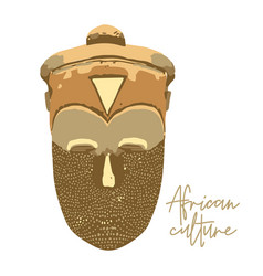 Traditional african culture attributes vintage vector