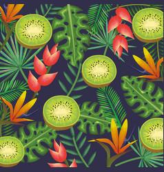 tropical garden with kiwi vector image