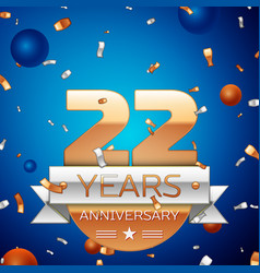 Twenty two years anniversary celebration design vector