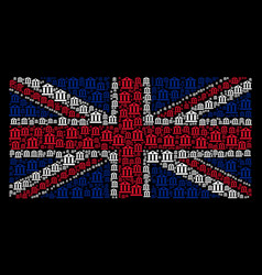 united kingdom flag mosaic of bank building icons vector image