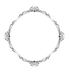 vintage black and white frame with lines vector image
