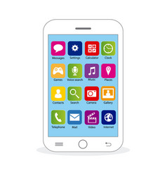white mobile vector image